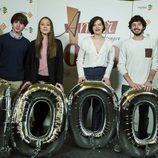 Óscar Ortuño, Blanca Parés, Mariona Ribas y Javier Pereira en la celebración de los 1000 capítulos de 'Amar es para siempre'