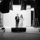 Frank Blanco e Irene Junquera preparados para brindar en la promoción de las campanadas 2016-2017