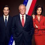 El reparto principal de 'Graves' posa para la promoción de la serie de Epix