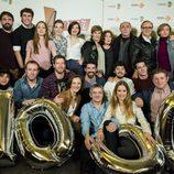 El reparto de 'Amar es para siempre' en el acto de celebración de los 1000 capítulos de la serie