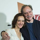 Ana Torrent junto con Nancho Novo en la celebración de los 1000 capítulos de 'Amar es para siempre'