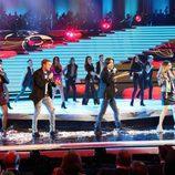 Fórmula Abierta actuando en la Gala de los 60 años de TVE