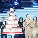 Raffaella Carrà despidiendo la Gala de los 60 años de TVE