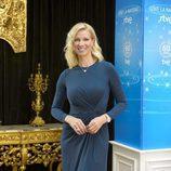 Anne Igartiburu durante la presentación de Navidad de RTVE