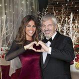 Lara Álvarez y Carlos Sobera durante la presentación de Navidad de Mediaset