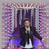 Carlos Torres cantando en la gala final de 'La Voz'