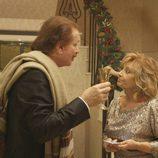 Bigote Arrocet y María Teresa Campos aparecen en la cena navideña de 'Las Campos'