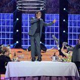 Juan Muñoz se pone en la piel de Harry Belafonte en la undécima gala de 'Tu cara me suena'