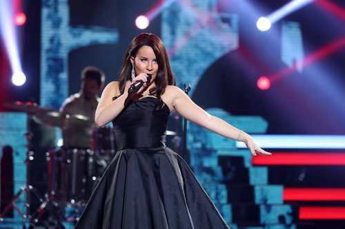 Lucía Gil se viste de Natalia Jiménez en la undécima gala de 'Tu cara me suena'
