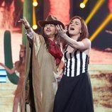 Yolanda Ramos y Carlos Marco se ponen en la piel de Camela en la undécima gala de 'Tu cara me suena'