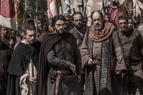 Pablo Derqui, Aitor Luna y Josep María Pou en 'La catedral del mar'