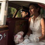 Ana Rivera en el coche nupcial en el último capítulo de 'Velvet'