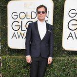 Michael Corbett Shannon ('Boardwalk Empire') posa en la Alfombra Roja de la 74ª edición de los Globos de Oro