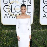 Thandie Newton, nominada por 'Westworld', posa en la Alfombra Roja de la 74ª edición de los Globos de Oro