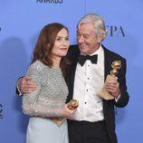 Isabelle Huppert, ganadora del Globo de Oro a Mejor actriz de drama por 'Elle'