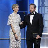El divertido monólogo de Kristen Wiig y Steve Carell en los Globos de Oro 2017