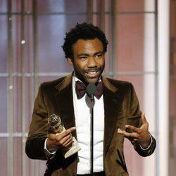 Donald Glover recoge su Globo de Oro a Mejor actor de comedia por 'Atlanta'