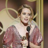 Claire Foy recoge su Globo de Oro a Mejor actriz de drama por 'The Crown'