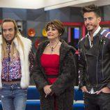 Aless Gibaja, Irma Soriano y Marco Ferri en la primera gala de 'GH VIP 5'