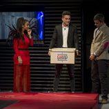 Elettra Lamborghini, Sergio Ayala y Alonso Caparrós en la primera gala de 'GH VIP 5'