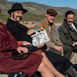 Los actores de 'El Ministerio del Tiempo' en el rodaje de la tercera temporada en Peñíscola
