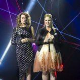 Paloma G. Quiros e Irene Maya en el concierto de la final del Eurocasting en RTVE