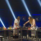 Alonso, Alejandro, Aless y Daniela cocinan en la segunda gala de 'Gran Hermano VIP'