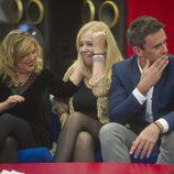 Terelu, Emma y Alonso durante la segunda gala de 'Gran Hermano VIP'