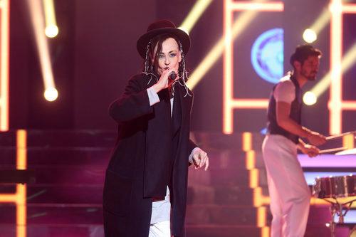 Esther Arroyo es Culture Club en la decimosegunda gala de 'Tu cara me suena'