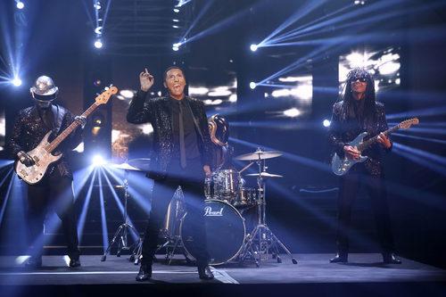 Canco Rodríguez se transforma en Pharrel Williams en la decimosegunda gala de 'Tu cara me suena'