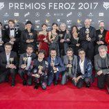 Los actores galardonados en la gala Premios Feroz 2017