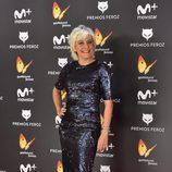 Eva Hache posa en la alfombra roja de los Premios Feroz 2017