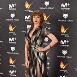 Najwa Nimri radiante en la alfombra roja de los Premios Feroz 2017