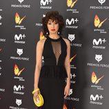 Verónica Sánchez posa en la alfombra roja de los Premios Feroz 2017