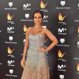 Paula Echevarría con un conjunto de brillantes en la alfombra roja de los Premios Feroz 2017