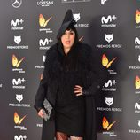 Rossy de Palma con un atrevido conjunto negro en la alfombra roja de los Premios Feroz 2017