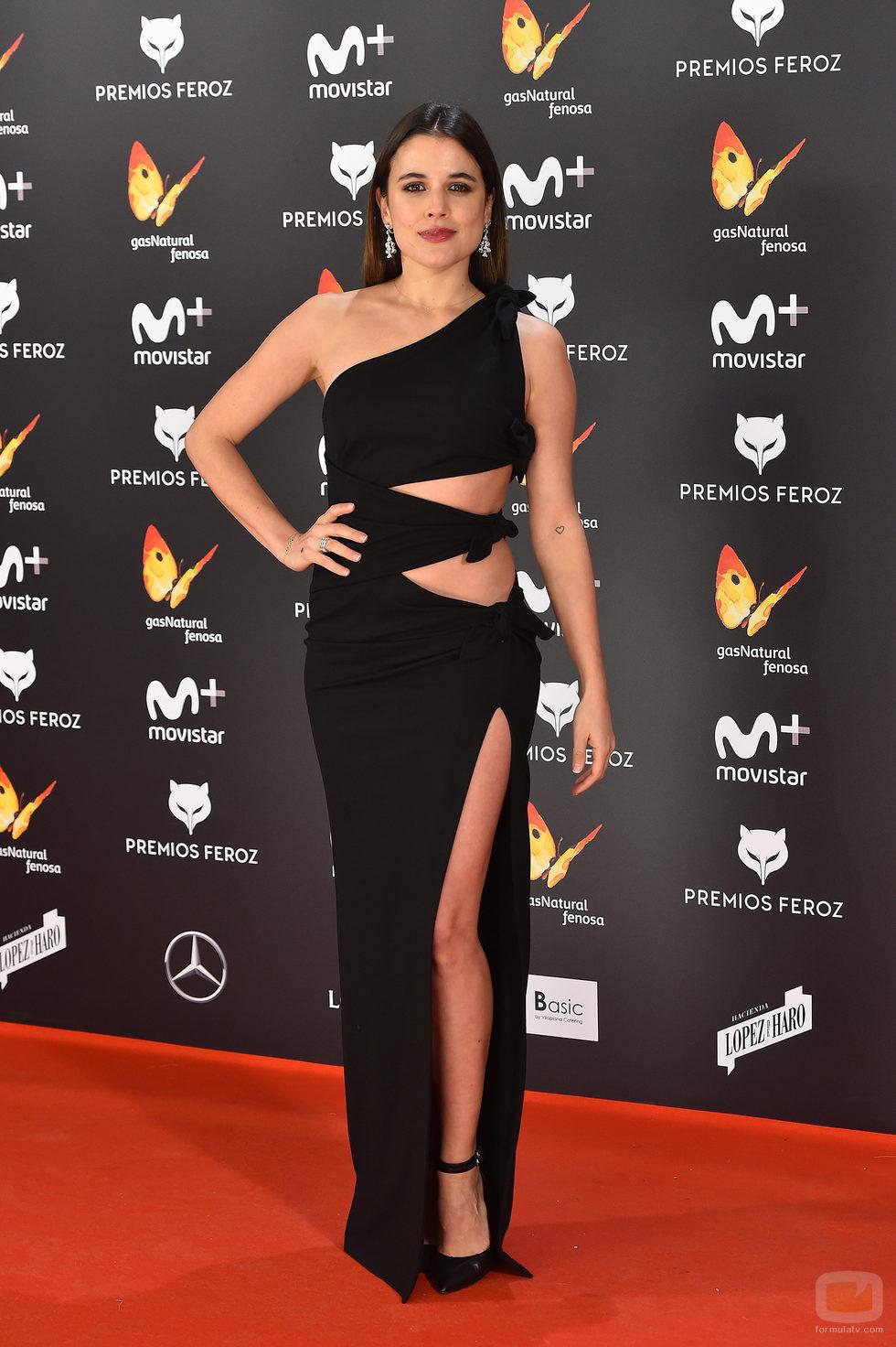 Adriana Ugarte con un sugerente vestido en la alfombra roja de los Premios Feroz 2017