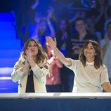 Tamara y Melani Olivares durante el segundo programa de 'El gran reto musical'