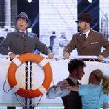Juan Muñoz imita a Carlos Gardel en la decimotercera gala de 'Tu cara me suena'