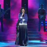 Esther Arroyo se mete en la piel de The fugees durante la decimotercera gala de 'Tu cara me suena'.