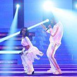 Beatriz Luengo y Yotuel como Rihanna y Drake en la decimotercera gala de 'Tu cara me suena'
