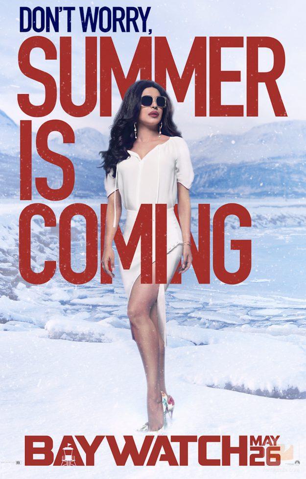 """Priyanka Chopra en una campaña promocional de """"Vigilantes de la playa"""""""