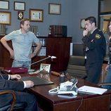 Reunión en el despacho de 'El comisario' Gerardo Castilla