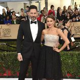 Sofía Vergara ('Modern Family') y Joe Manganiello ('True Blood') en la alfombra roja de los SAG Awards 2017