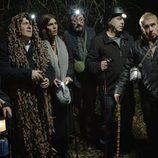 Algunos de los protagonistas de 'Allí abajo' en la tercera temporada de la serie