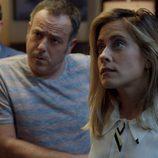 María León, Gorka Aguinagalde e Iker Galartza en la tercera temporada de 'Allí abajo'