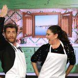 Pablo Motos bailando con Isabel Pantoja en 'El Hormiguero'