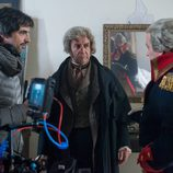 Pedro Casablanc y Luis Callejo en el rodaje de la tercera temporada de 'El Ministerio del Tiempo'