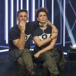 Alonso Caparrós e Irma Soriano en la sala de expulsión durante la sexta gala de 'GH VIP 5'