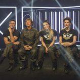 Alonso Caparrós, Alejandro Abad, Alyson Eckmann e Irma Soriano durante la sexta gala de 'GH VIP 5'